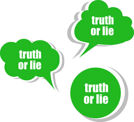 lie: truth or lie. Set of stickers, labels, tags. Template for infographics
