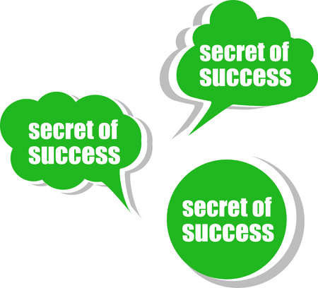 secret of success. Set of stickers, labels, tags. Business banners, Template for infographics photo
