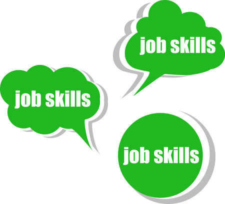 job skills. Set of stickers, labels, tags. Template for infographics photo
