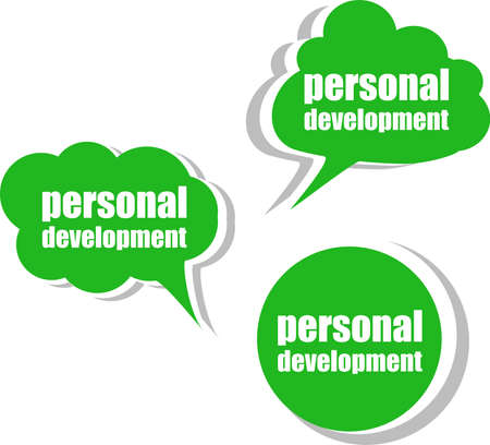 personal development, Set of stickers, labels, tags. Template for infographics photo