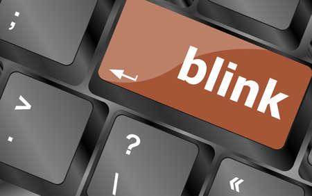 blink: Modern keyboard key with words blink