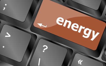 energy button on computer pc keyboard key photo