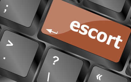 escort: escort button on computer pc keyboard key