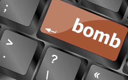 animosity: dangerous bomb button on white computer keyboard