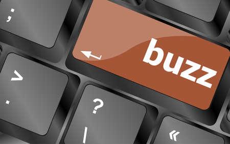 buzz word: buzz word on computer keyboard key