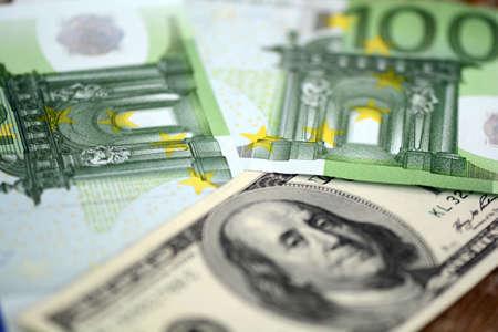 money packs: packs of dollars and euro money