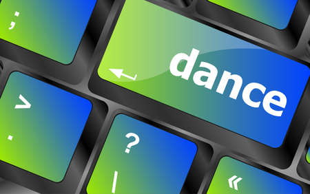 dance button on computer pc keyboard key photo