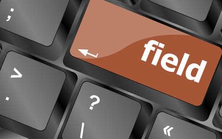 button computer: palabra de campo en tecla del teclado, bot�n del ordenador port�til