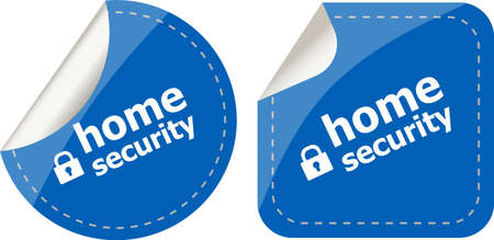 proxy: Secure lock sign label isolated on white, home security Stock Photo