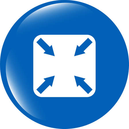 abstract lines (arrows) on web glossy icon (button) photo