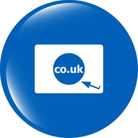 subdomain: Domain CO.UK sign icon. UK internet subdomain symbol