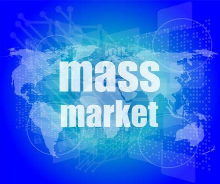 mass market words on digital touch screen interface photo