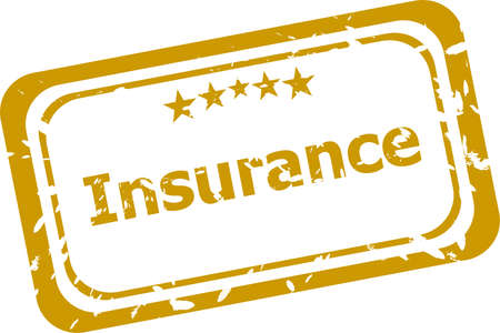 insurance grunge stamp isolated on white photo