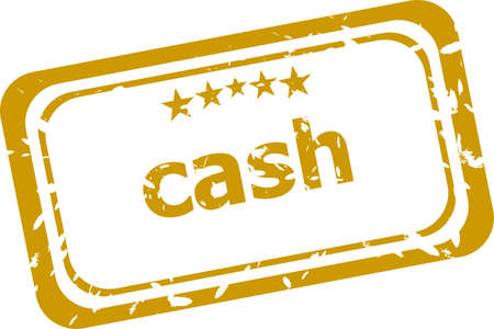 cash Rubber Stamp over a white background photo