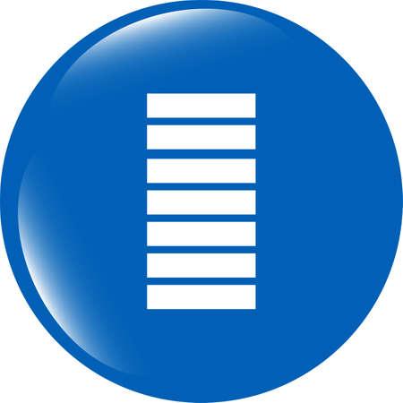 Battery icon web button photo
