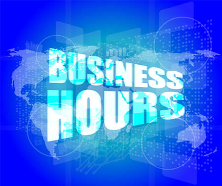 business hours on digital touch screen photo