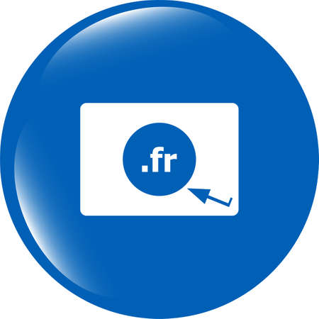 Domain FR sign icon. Top-level internet domain symbol photo