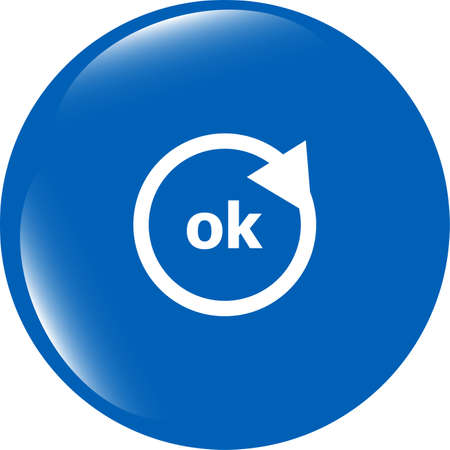 ok word on sign web icon. web button photo
