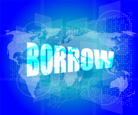 pixeled: Pixeled financial background on digital screen - borrow
