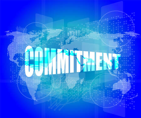 business concept: word commitment on digital touch screen photo