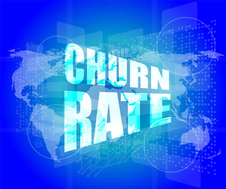 business concept: words churn rate on digital screen Stock Photo