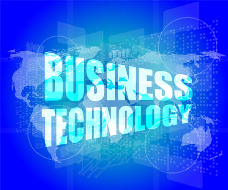 Management concept: business technology words on digital screen photo