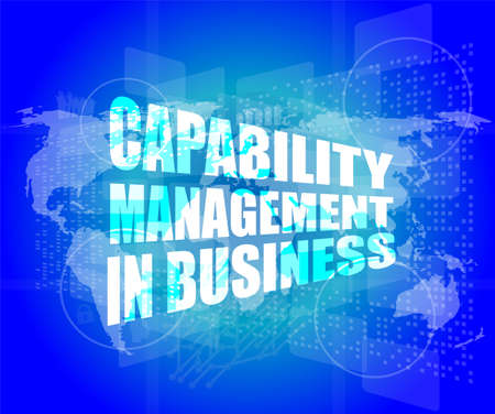 capability: capability management in business words on touch screen interface Stock Photo