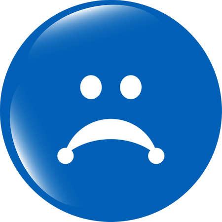 despondency: Sad icon (button) isolated on white background