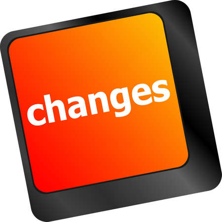 changes ahead concept with key on keyboard photo
