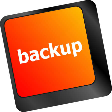 Backup computer key in for archiving and storage photo