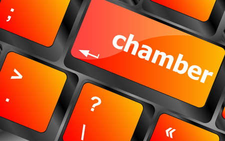 central chamber: chamber button on computer pc keyboard key Stock Photo