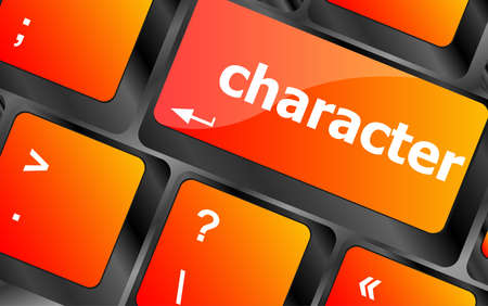 button computer: palabra personaje en tecla del teclado, bot�n del ordenador port�til