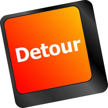 key words art: Computer keyboard with detour key - technology background