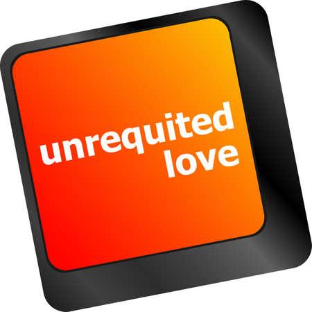 unrequited love: el amor no correspondido en mostrar internet concepto clave o el teclado de citas