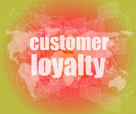 brand activity: Marketing concept: words Customer loyalty on digital screen Stock Photo