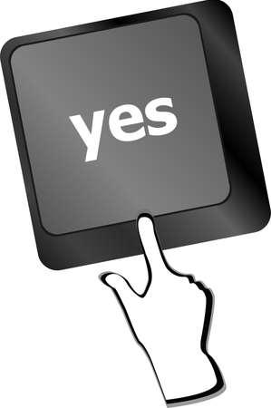 technology agreement: Computer keyboard key with agreement key - business technology