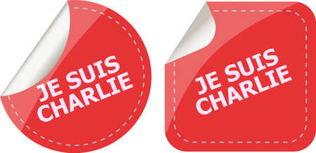 charlie: Je Suis Charlie text on web icon, movement against terrorism