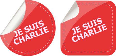 massacre: Je Suis Charlie text on web icon, movement against terrorism