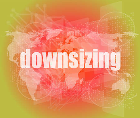 buisnes: Business concept: words Downsizing on digital background
