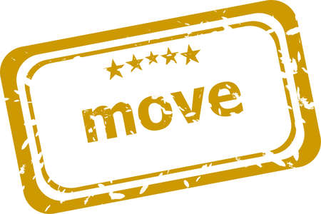 room to let: move stamp isolated on white background