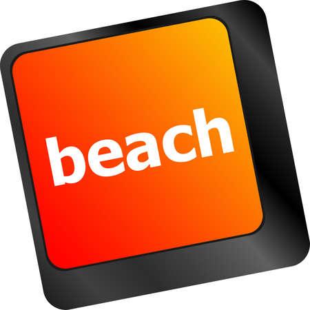 beach enter button on computer keyboard keys photo