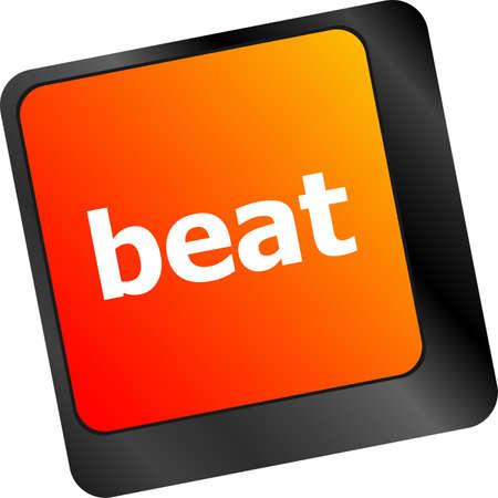 beat: beat word on keyboard key, notebook computer button