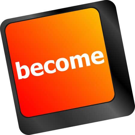 button computer: palabra convertido en tecla del teclado, bot�n del ordenador port�til Foto de archivo