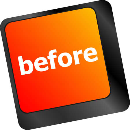 before: before button on computer keyboard key Stock Photo