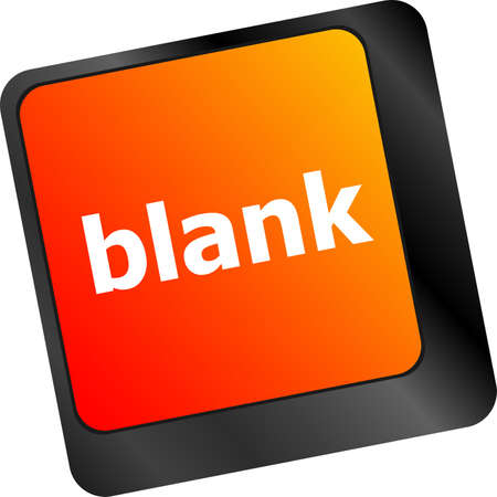 blank button: blank button on computer pc keyboard key