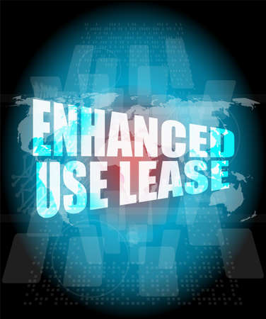 enhanced: Management concept: enhanced use lease words on digital screen