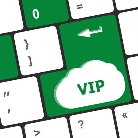 VIP written button keys on computer keyboard photo