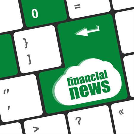 exceeds: financial news button on computer keyboard