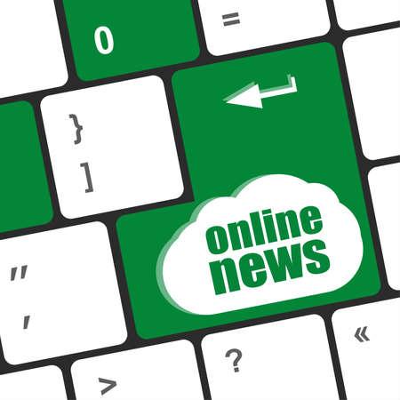 exceeds: online news button on computer keyboard
