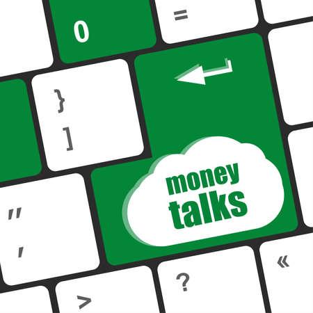 conversaciones: el dinero habla en bot�n de la llave del teclado del ordenador